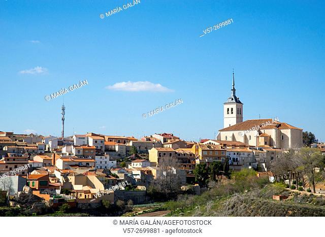 Overview of the village. Colmenar de Oreja, Madrid province, Spain