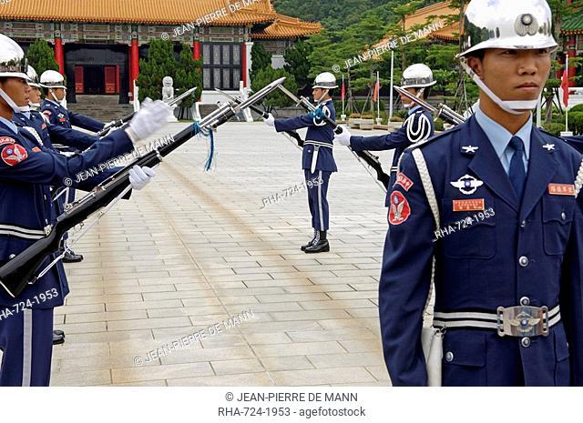 Honor guard at Martyrs' Shrine, Taipei, Taiwan, Republic of China, Asia