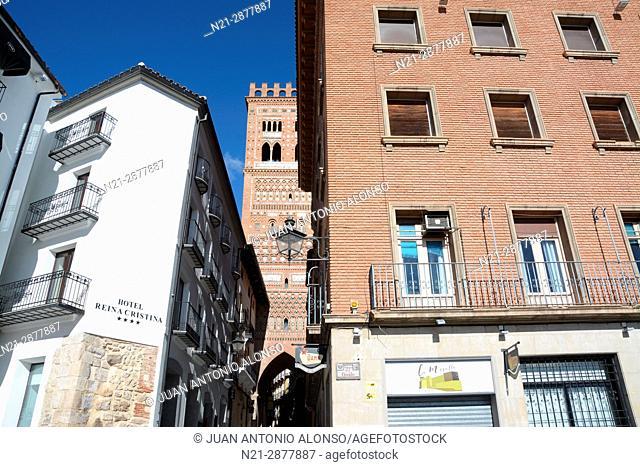 Tower of El Salvador Church. Teruel, Aragón, Spain, Europe
