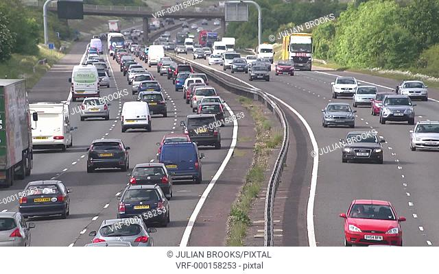 busy motorway traffic on the M40