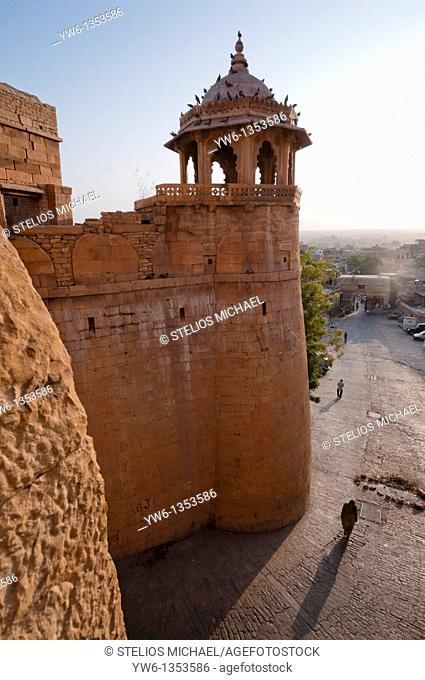 Tower at the entrance to Jaisalmer Fort in Rajasthan,India