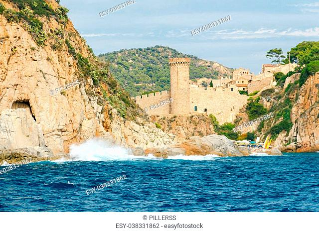 Small beach in Tossa de Mar, near the old medieval fortress