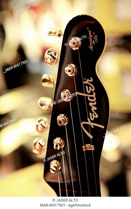 fender guitar, close up