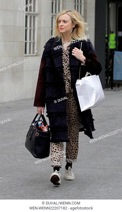 Fearne Cotton leaving the BBC Radio 1 studios Featuring: Fearne Cotton Where: London, United Kingdom When: 19 Feb 2015 Credit: Duval/WENN.com