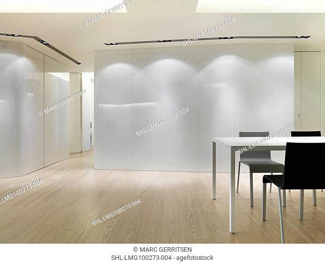 Dining area in minimalistic home