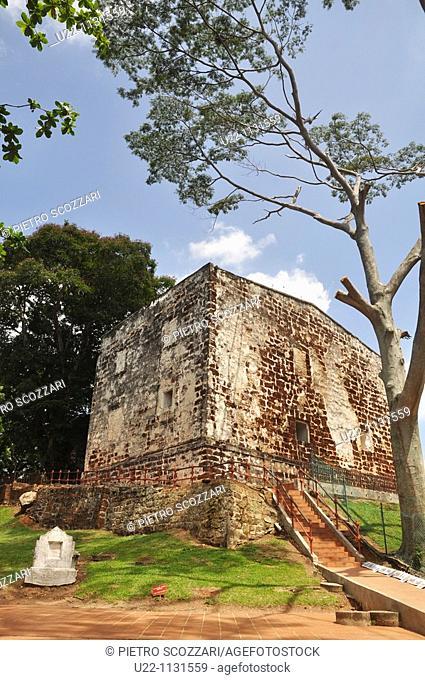 Malacca (Malaysia): the St. Paul's Church ruins