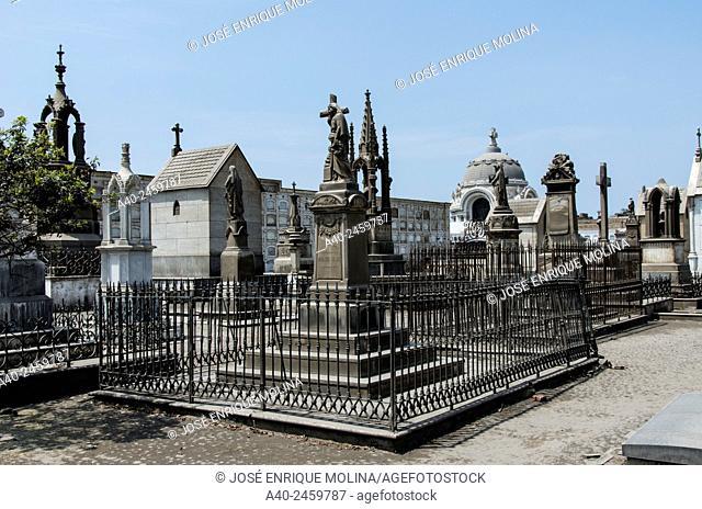 Presbítero Maestro cemetery museum 1808. Lima city. Peru