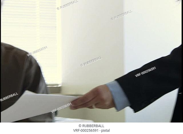 Two business executive in an office