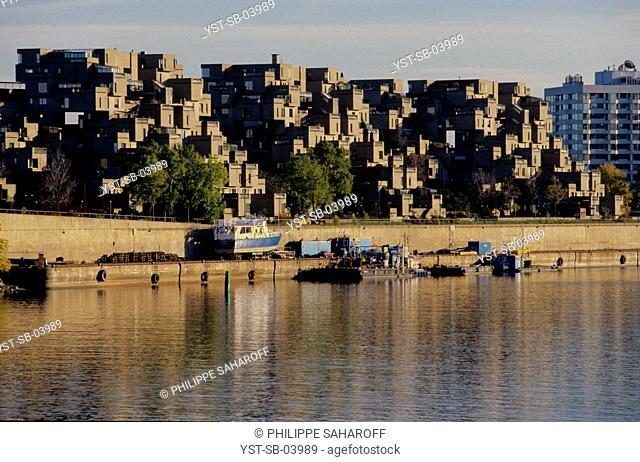 Housing complex, Moshe Safdie, Habitat 67, Montreal, Canada