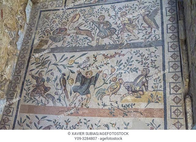 Mosaic, Villa Romana del Casale, Piazza Armerina, Sicily, Italy