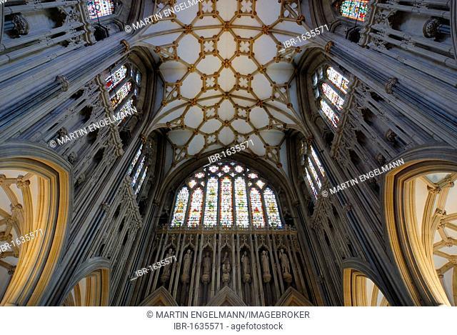 Interior, Wells Cathedral, Wells, Somerset, England, United Kingdom, Europe