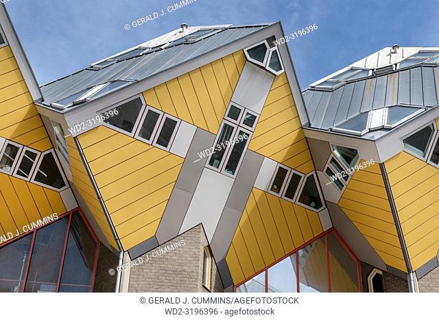 Yellow Cube Houses, Rotterdam, Holland