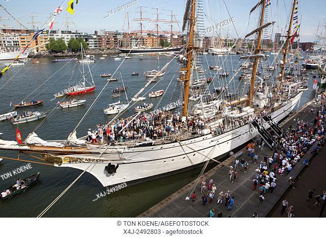 visitors at Sail 2015 in Amsterdam