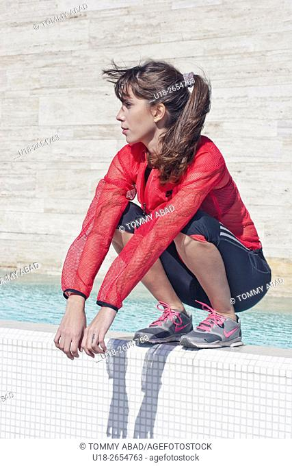 girl in sportive clothes