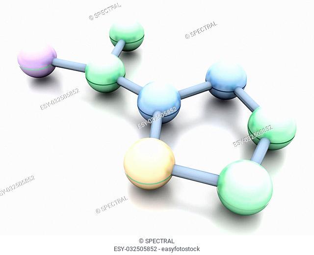 A generic Molecule. 3D rendered Illustration