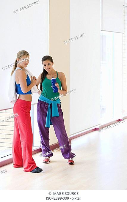 Women in exercise studio