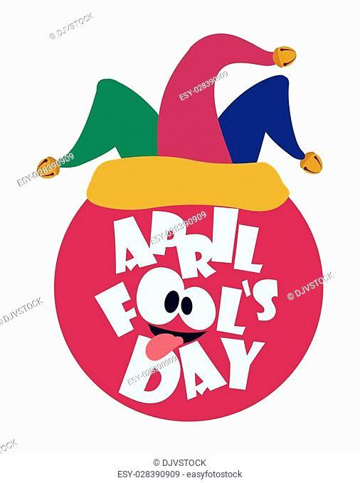 April fools day design, vector illustration