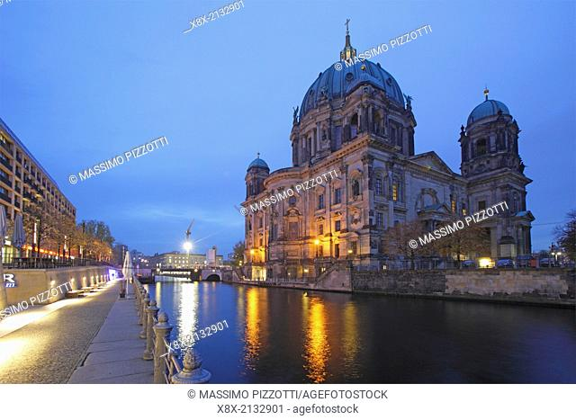 Berlin Cathedral and the Spree River, Berlin, Germany