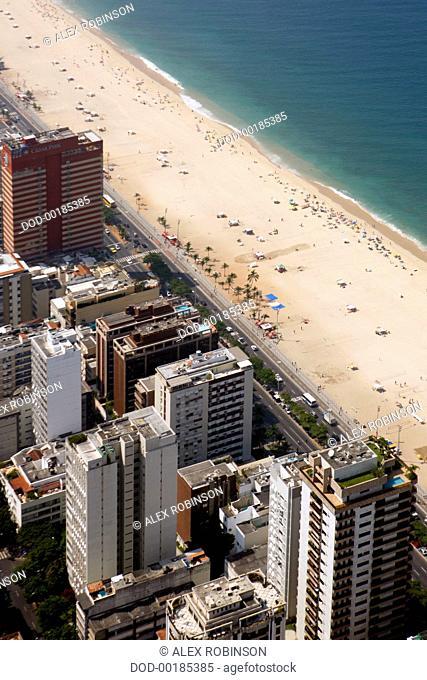 Brazil, Rio de Janeiro, Ipanema, aerial view