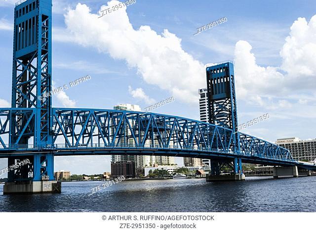 Main Street Bridge over St. Johns River, Jacksonville, Florida, United States of America