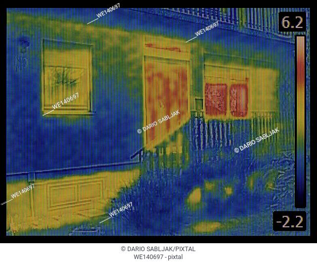 Thermal Image of House Entrance