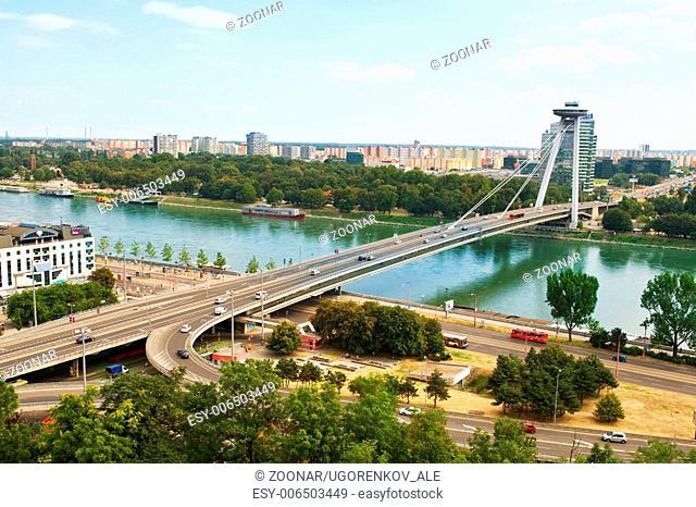 bridge from castle - Bratislava, Slovakia