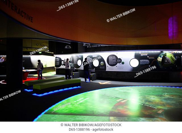 France, Puy-de-Dome Department, Auvergne Region, St-Ours Les Roches, Vulcania European Volcanic Park, interior exhibit