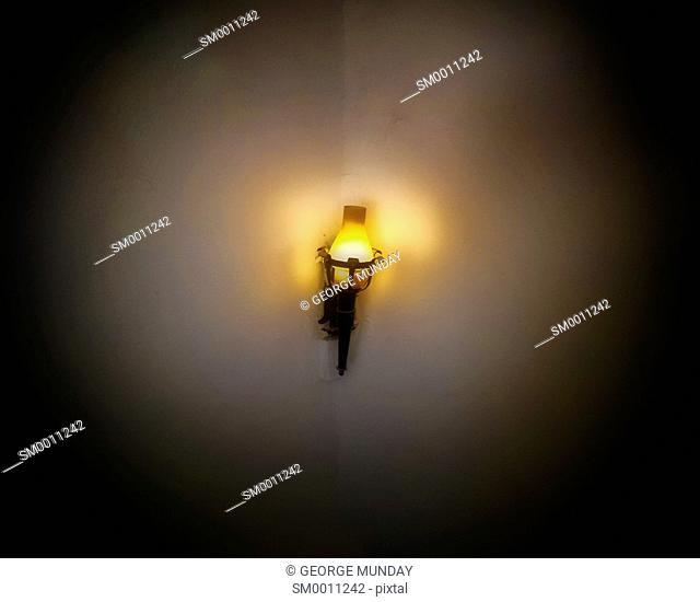Lamp in the Alcázar de los Reyes Cristianos,