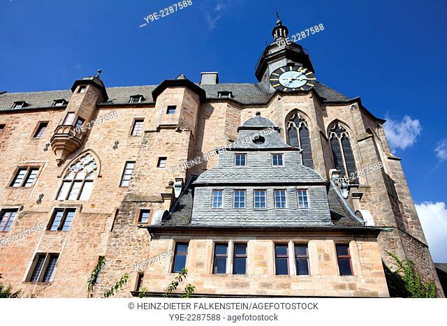 Marburg Castle, Landgrafenschloss, Marburg, Hesse, Germany, Europe