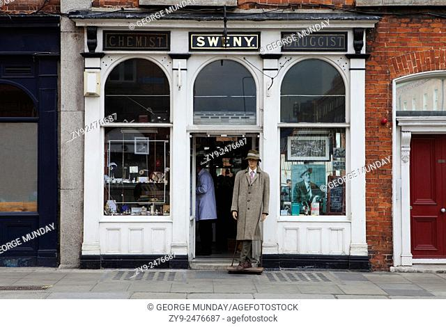 """Sweny's Chemist Shop, Where Leopold Bloom bought his soap in """"""""Ulysses"""""""" - and now a Museum, WestlandRow, Dublin City, Ireland"""