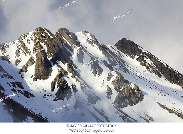 Mountains in Larra Belagua, Navarra, Spain