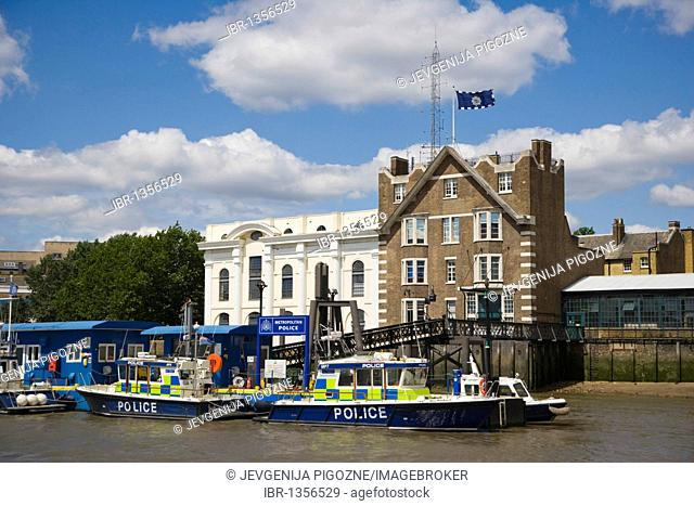 Wapping Police Station, Thames Police Museum, Wapping High Street, view from river Thames, Tower Hamlets, Docklands, London, England, United Kingdom, Europe