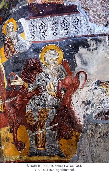 Turkey - Trabzon Province - fresco at the Sumela monastery
