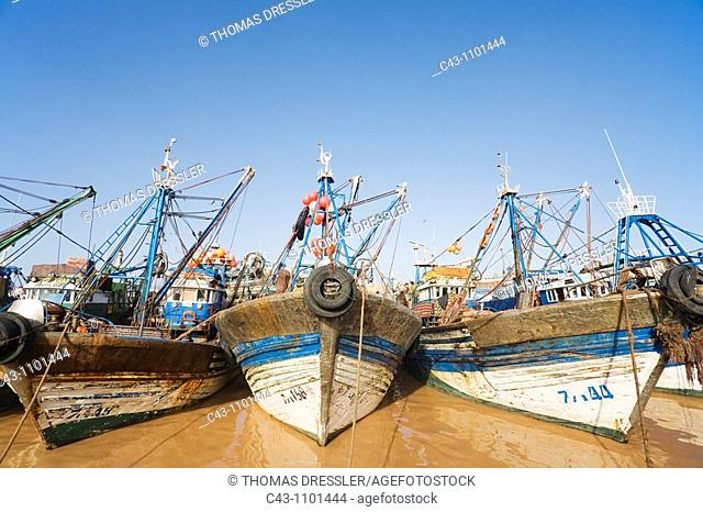 Morocco - The fishing port of Essaouira, which probably is Morocco's most attractive seaside town, lying at the Atlantic Ocean west of Marrakesh