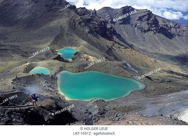 Emerald Lakes, Tongariro, Tongariro NP, North Island New Zealand