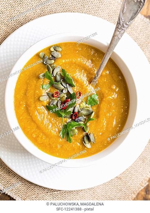 Vegan vegetable cream soup