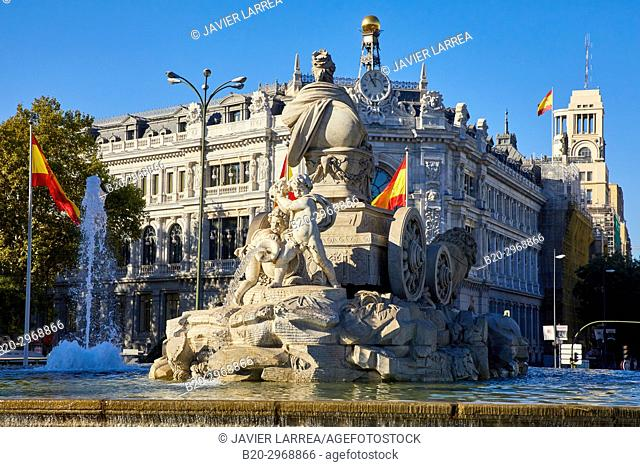 Banco de España, Plaza Cibeles, Madrid, Spain, Europe