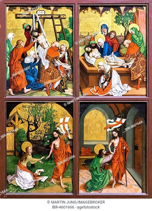 Cycle of paintings Passion Christi, Retable des Dominicains, c. 1480, Dominican altar, Martin Schongauer, Museum Unterlinden, Musée Unterlinden, Colmar, Alsace