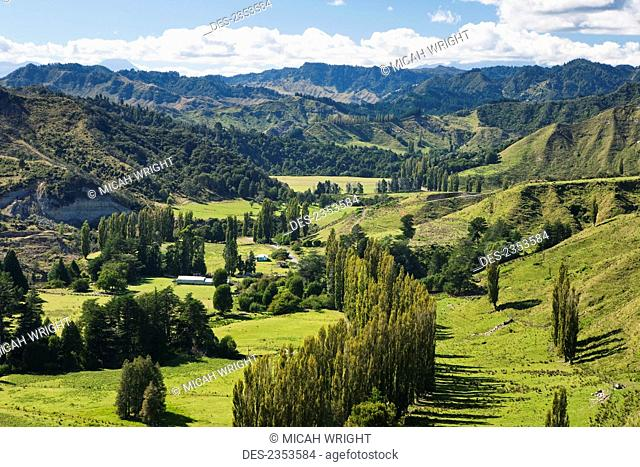 Blue Duck lodge, a working New Zealand farm located in the Whanganui National park; Whakahoro, New Zealand