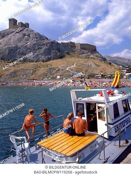 The Ukraine, the Crimea, Genueser fortress with Sudak