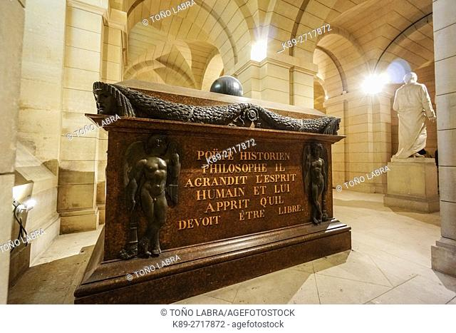 Voltaire Tomb. Pantheon. Paris. France