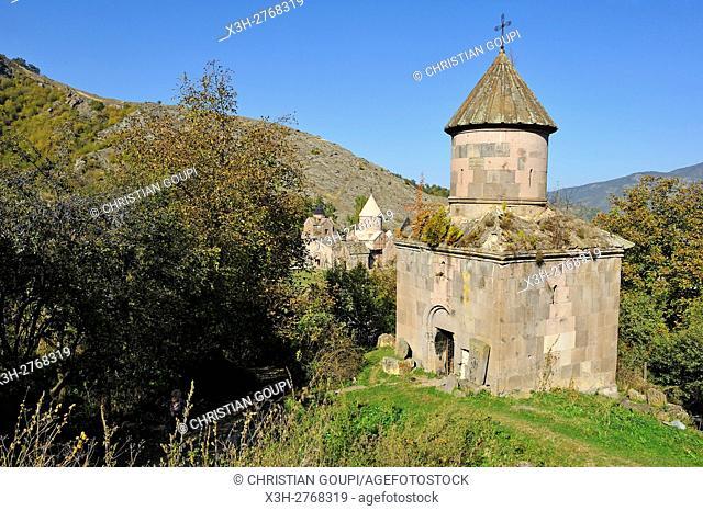 funeral chapel of Mkhitar Gosh (1130-1213), writer, thinker, priest, founder of Goshavank Monastery, Gosh village, Dilijan National Park, Tavush region, Armenia