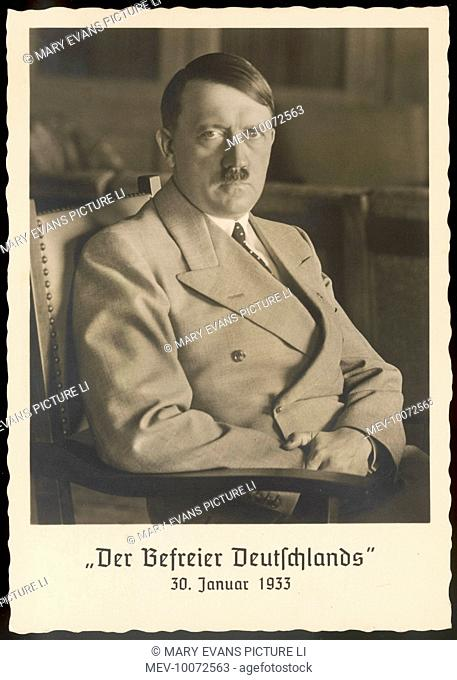 ADOLF HITLER (1889-1945), 'Der Befreier Deutschlands' (the man who made Germany free) , photographed at his Berghof, Obersalzburg home