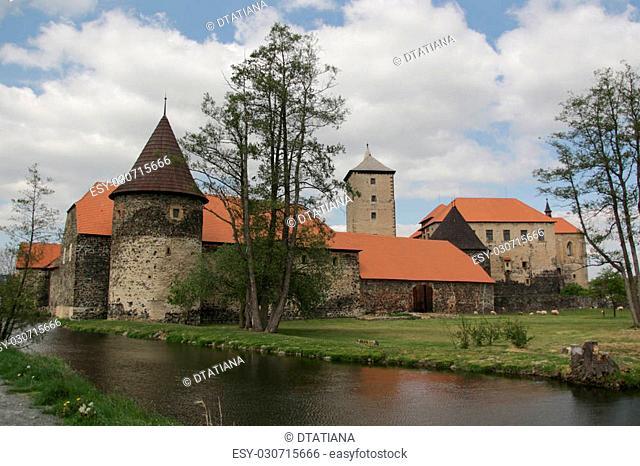 Medieval water castle Svihov in Czech republic