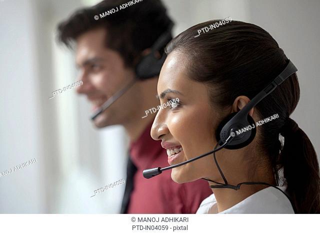 India, Two Telephone marketing people