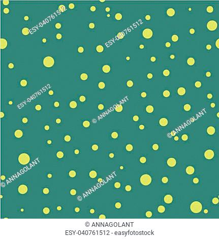 Polka dot seamless pattern. Dotted background with circles, dots, rounds Vector illustration Flat Scandinavian style for print on fabric, gift wrap