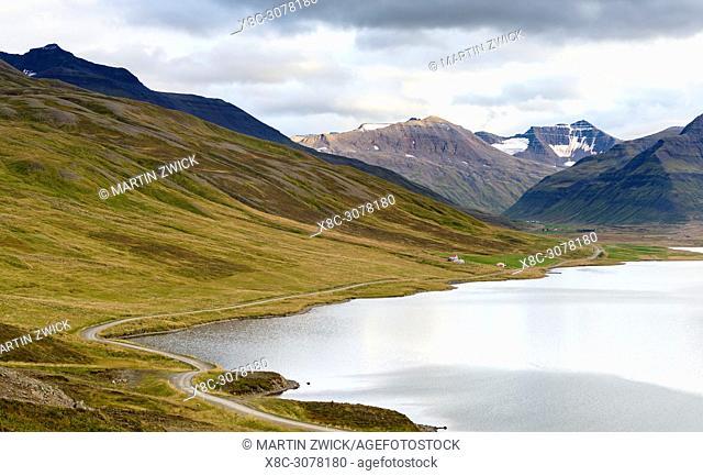 Lake Stifluvatn near Siglufjoerdur in the Troellaskagi mountains. europe, northern europe, iceland, september