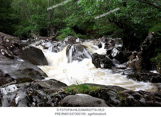 River Nevis, Glen Nevis, near Fort William, Grampian Mountains, Highlands, Scotland, United Kingdom / River Nevis, Glen Nevis, bei Fort William