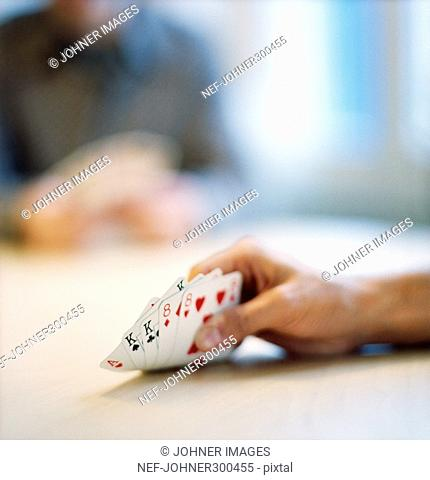 Detail of a card game