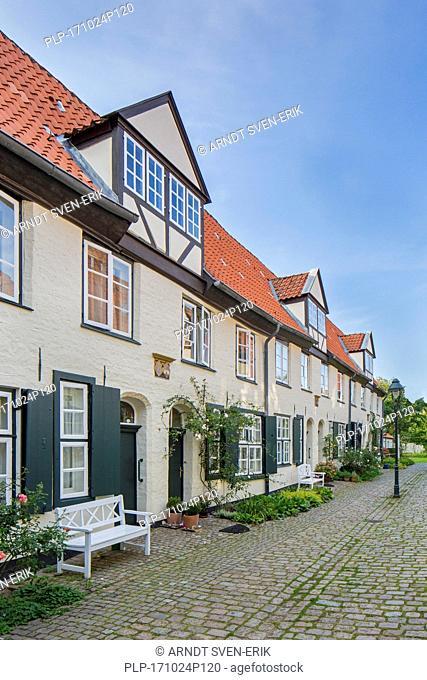 Glandorps Hof / Glandorp's court in the Hanseatic town Lübeck / Luebeck, Schleswig-Holstein, Germany